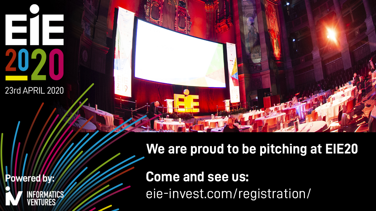 We're pitching at EIE20 in April
