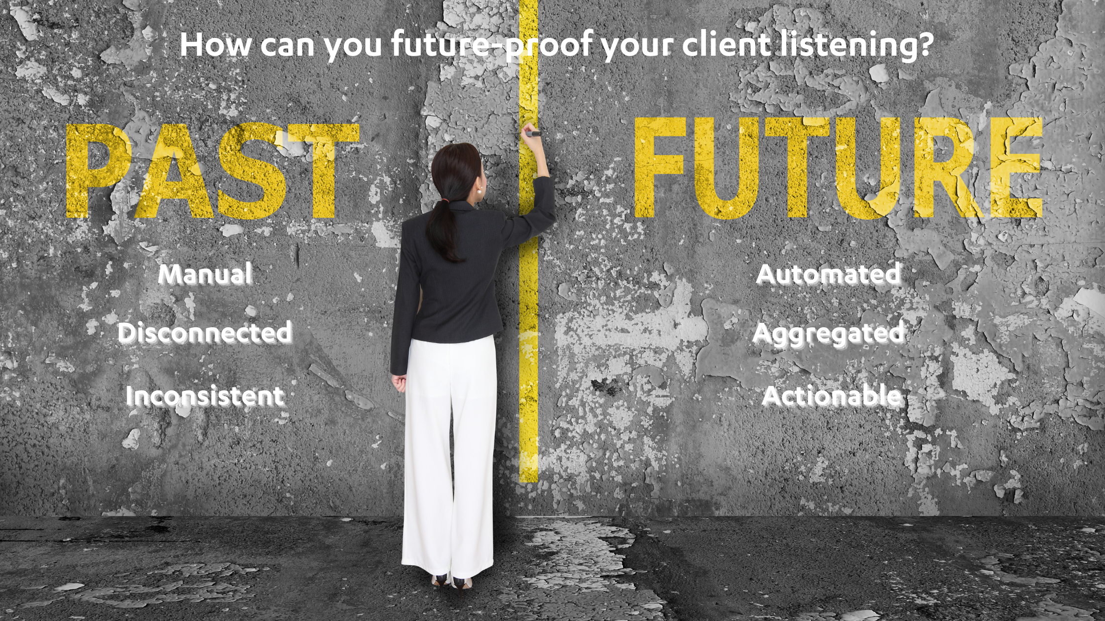 Future-proof client listening programmes