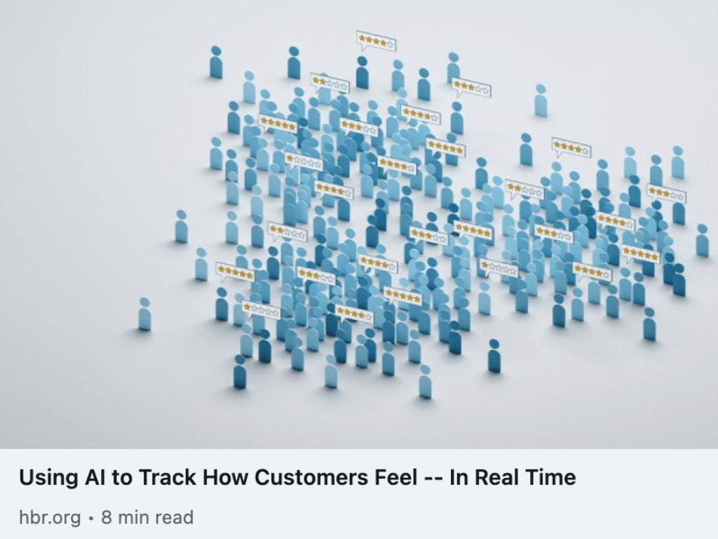 HBR using ai to track how customers feel